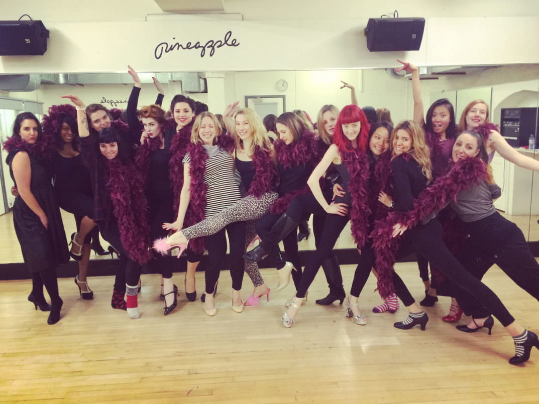 Burlesque Hen Party At Pineapple Dance Studio London