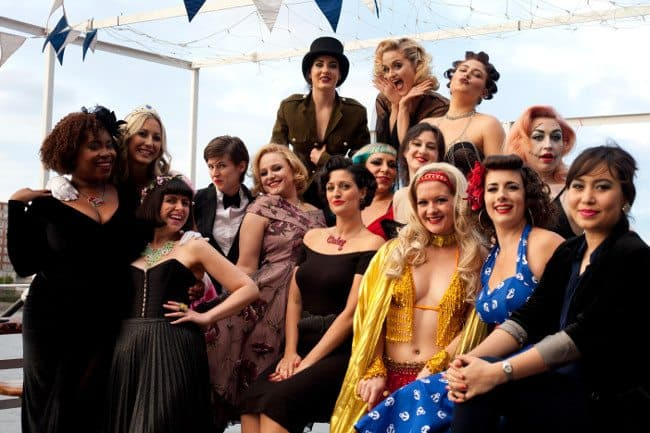 A burlesque hen party in central London