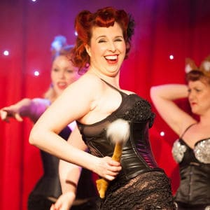 A vibrant burlesque troupe